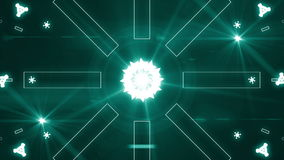 Abstract light music clip backgorund 4K Green