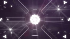Abstract light music clip backgorund 4K multicolor stock video footage