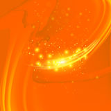 Abstract Light Orange Wave Background Stock Photography