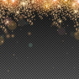 Abstract Light Overlay Effect. On Transparent Background. Vector Illustration. Bokeh and Sparkles Stock Image