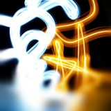 Abstract light painting Royalty Free Stock Photography