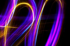 Abstract light painting Royalty Free Stock Photos