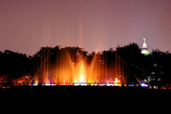 Abstract light painting of Musical fountain Royalty Free Stock Images