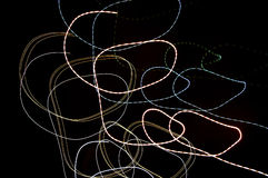 Abstract light painting Royalty Free Stock Images