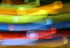 Abstract Light Painting in Rainbow Colors Royalty Free Stock Images