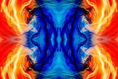 Abstract light pattern. An abstract pattern made from image of moving lights stock image