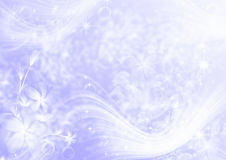 Abstract light purple background. With stars and flowers Royalty Free Stock Images