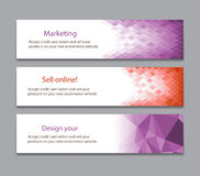 Abstract light purple banner Stock Photography