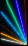 Abstract Light Rays. With bokeh from LED's for background Royalty Free Stock Photography