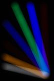 Abstract Light Rays. With bokeh from LED's for background Royalty Free Stock Images
