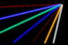 Abstract Light Rays close up. Abstract Light Rays with bokeh from LED's for background Royalty Free Stock Images