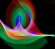 Abstract Light Ribbon Trails Stock Photo
