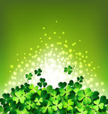 Abstract light on Shamrock for Patricks day card Stock Photo