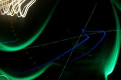 Abstract Light Moving Shapes in the Dark royalty free stock photos