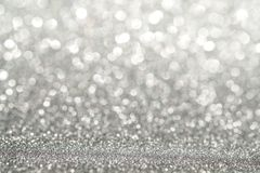 Abstract light silver sparkling glitter wall Abstract light silver sparkling glitter wall and floor perspective background studio. Abstract light silver royalty free stock photos