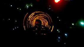 Abstract light and speed motion in railroad tunnel. Abstract light and speed motion in subway railroad tunnel stock footage