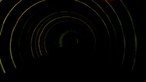 Abstract light and speed motion in railroad tunnel. stock video