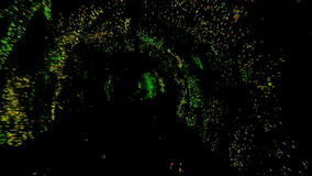 Abstract light and speed motion in railroad tunnel. Abstract light and speed motion in subway railroad tunnel stock video