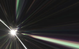 Abstract light of speed motion on the space Royalty Free Stock Images
