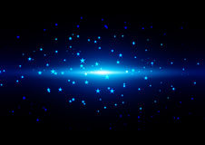 Abstract  light and star on Blue  background. illustration vecto Stock Images