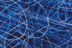 Light striped trails with chaotic motion. Abstract light striped trails with chaotic motion Stock Image