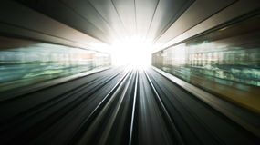 Abstract bright light in the end of tunnel Stock Image
