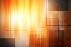 Abstract  light tech on orange background Royalty Free Stock Photos