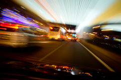 Abstract of light trail. At busy street Kuala Lumpur Royalty Free Stock Image