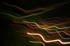 Abstract light trails. Of varying colors and lengths royalty free stock photos