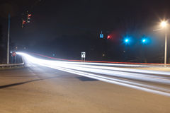 Abstract Light Trails from Cars Stock Photos
