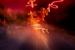 Abstract light trails Royalty Free Stock Photo