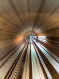 Abstract Light Tunnel. Abstract movement inside a light tunnel Royalty Free Stock Photography