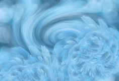 Abstract light turquoise background with light white-blue peony flowers. Flower Arrangement. Nature Stock Photos