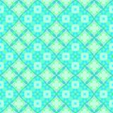 Abstract light turquoise tile pattern, Bright cyan tiled texture background, Seamless illustration Stock Photo