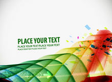Abstract light wave background. Colorful abstract light wave vector background Stock Photography