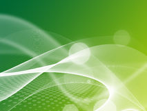 Abstract Light white wave. On green background Royalty Free Stock Photo