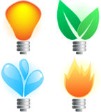 Abstract lightbulb Stock Photo