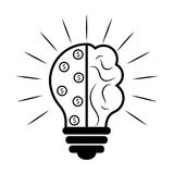 Abstract lightbulb. Business icon. Vector illustration design Stock Photography