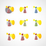 Abstract lighthouse icons collection Stock Photo