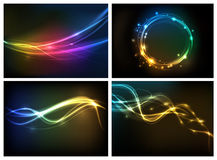 Abstract lighting background. For your design work Vector Illustration