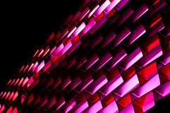 Abstract Lighting Decoration. The Photo Abstract lighting decoration on the wall of the building Royalty Free Stock Image