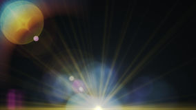 Abstract of lighting digital lens flare in dark background Royalty Free Stock Photo