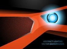 Abstract lighting surface scene in dark. Vector wallpaper backgrounds stock illustration