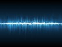 Abstract lightning waveform. Blue background Stock Image