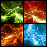 Abstract lightnings Royalty Free Stock Photo