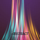 Abstract Lightpainting Vector Background. Digital Caligraphy Light Streaks. Vector Neon Disco Light Waves Template Stock Photo