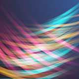 Abstract Lightpainting Vector Background. Royalty Free Stock Photo