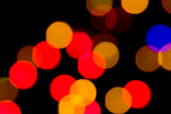 Abstract lights. Abstract of out of focus christmas lights Stock Photos