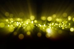Abstract lights. Abstract background - bright yellow light Stock Image