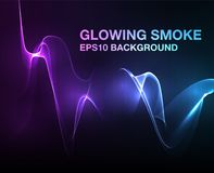 Vector Abstract Lights. Abstract lights background, Futuristic glowing smoke wallpaper stock illustration